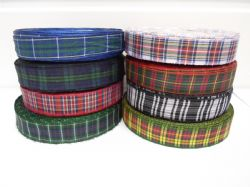 2 metres or 25 metres (Full Roll) 10mm Tartan Ribbon double sided scottish UK